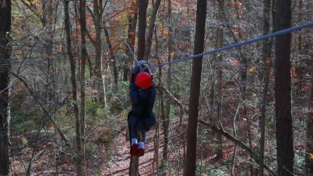 Canopy tour via ziplining video
