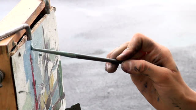 Canvas, brush, drawing video