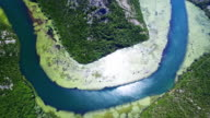 Canyon of river Crnojevica, Montenegro, aerial view video