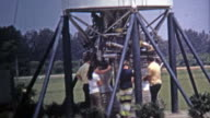 1971: Cape Canaveral space shuttle real engines museum display. video