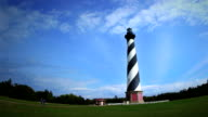 Cape Hatteras Lighthouse Time Lapse Fish Eye video