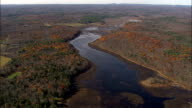 Cape Pond Near Napanoch  - Aerial View - New York,  Ulster County,  United States video