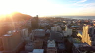 Cape Town at sunset video