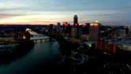Capital City Turning Camera Angle high over ATX Aerial Drone Shot Austin Texas video