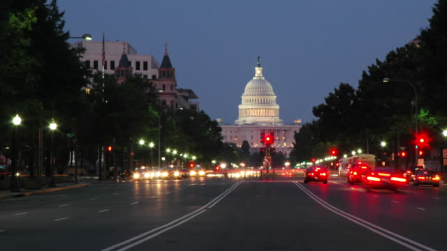 Capitol Building at Dusk video