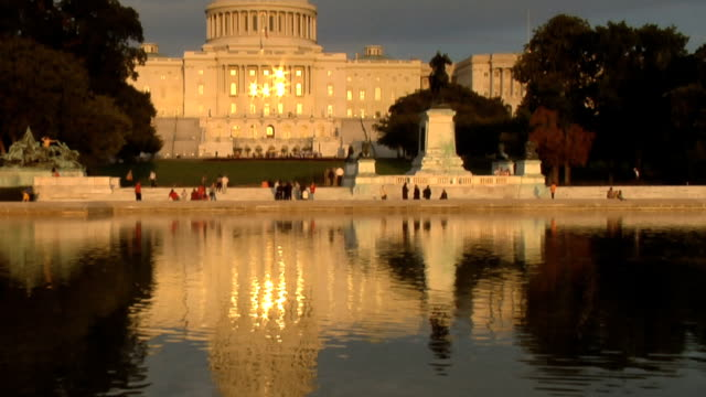 US Capitol Building in late afternoon sun video