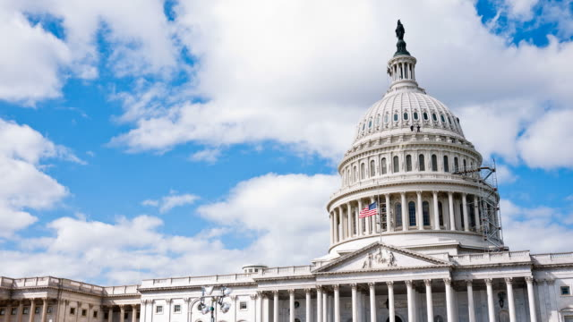 US Capitol / Congress and Clouds Time-Lapse video