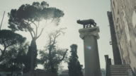 Capitoline hill she-wolf of Rome video