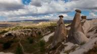 4K: Cappadocia, rocks in the form of stone mushrooms video