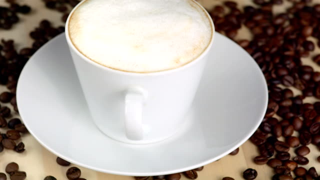 HD: Cappuccino And Coffee Beans video