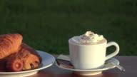 Cappuccino whith chantilly cream, video