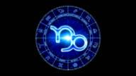 capricorn blue zodiacal symbol video