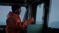 Captain Pilots Commercial Fishing Ship. video