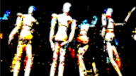 MANIKINS - capture two, black back : mixed media (LOOP) video