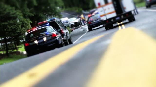 Car Accident Scene video