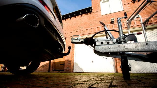 Car Backing Onto Trailer video