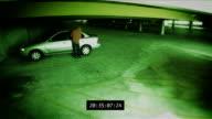Car Break-In Surveillance  Footage video