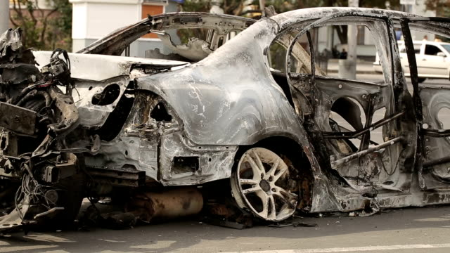 Car Burned After Explosion video