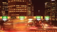 Car Commuting Traffic Congestion City Street Night Traffic Rush Hour Time Lapse video