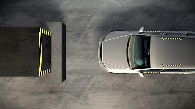 Car crash test video