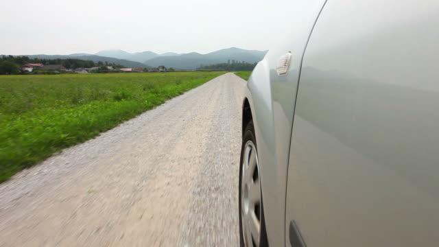 HD: Car drive on macadam road video