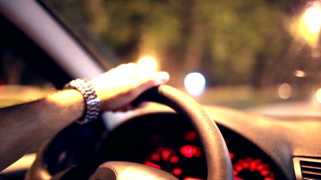 Car driving at night video