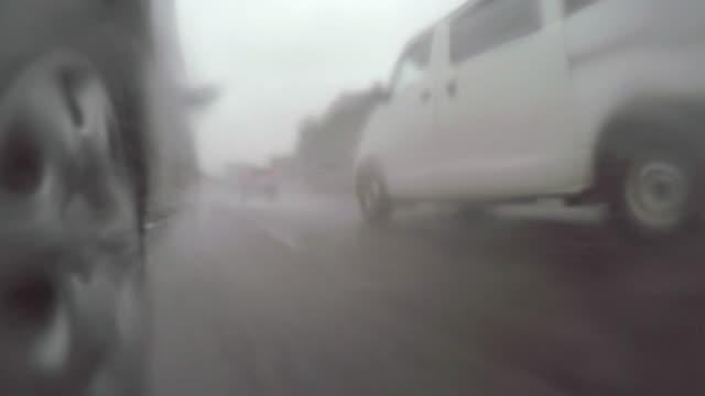 Car driving at rainy day -4K- video