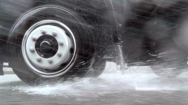 Car driving at rainy day video