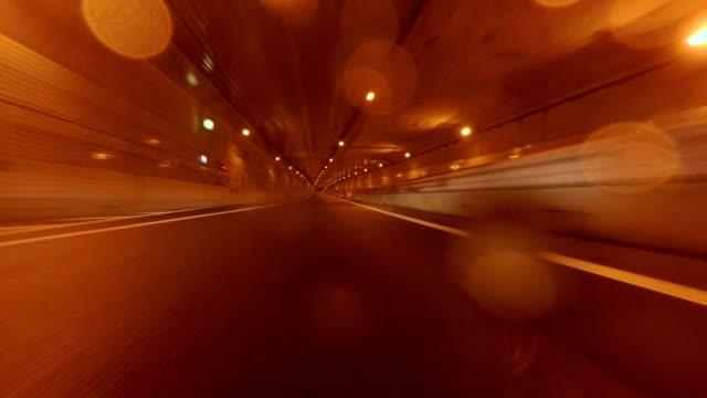 Car driving at rainy night city  -4K- video