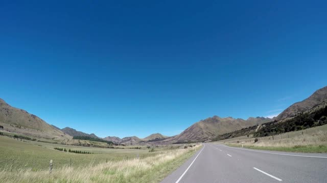 POV car driving on scenic New Zealand road video