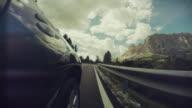 POV Car driving on the Dolomites, European Alps video