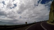 Car driving on the Great Ocean Road video