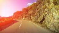 Car driving pov: dangerous coastal road video