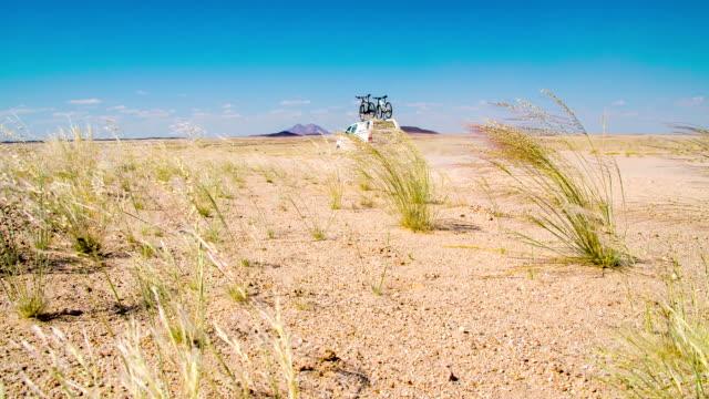 LA DS Car Driving Through Namibian Desert video