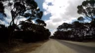 POV car driving trough Australian's landscape video