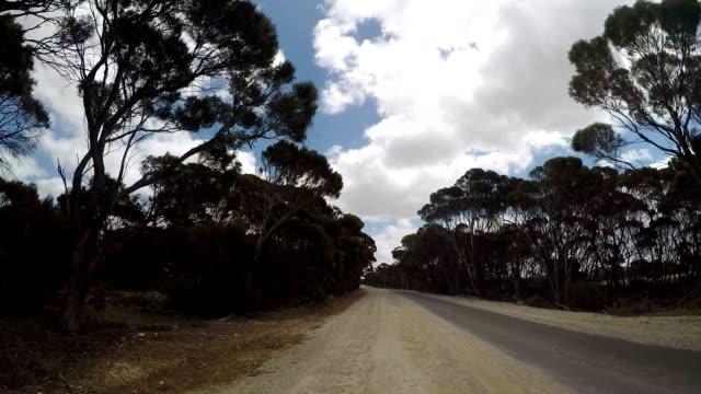 POV car driving trough Australian's landscape video