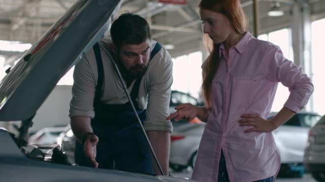 Car Engine Check at Repair Shop video