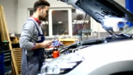 Car engine maintenance. video