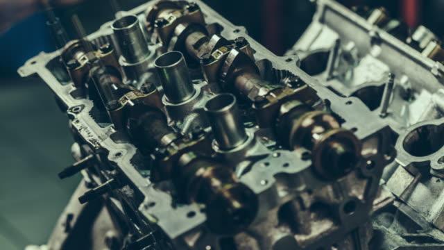 V8 Car Engine Repair. 4k Time Lapse Video video