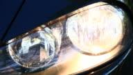 Car headlights video