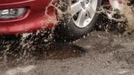 Car Hits Two Pot Holes video