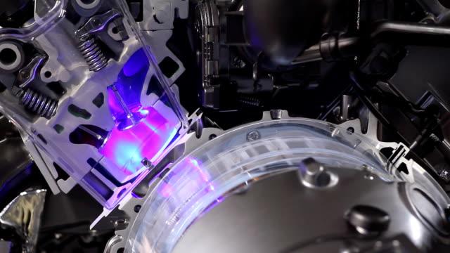 car hybrid engine pistons and valves video