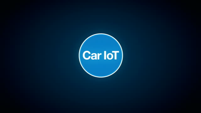 Car internet of things technology icon connect global world map, dots makes world map. internet of things. video