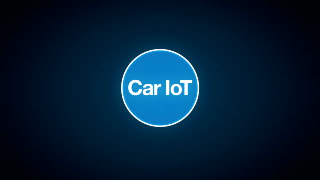 Car internet of things technology icon connect global world map, dots makes world map. internet of things.2. video