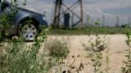Car on deserted road video