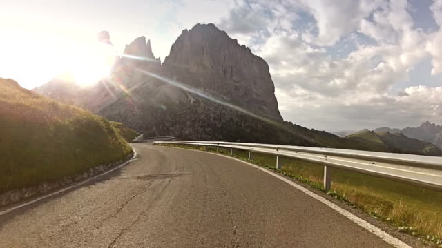 Car Onboard Camera on Mountain Road: Sella Pass video