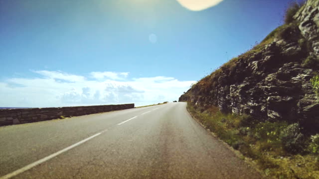 Car Onboard Camera: road by the sea video