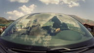 Car Onboard Camera: view on the windshield video