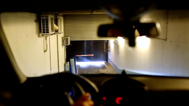 Car out of the underground garage video