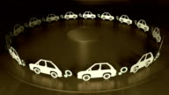 Car Pollution Looping Animation video